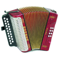 Hohner Erica Model D/G Diatonic Accordion in Red