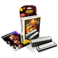 Hohner Enthusiast Series Hot Metal Harmonica in the Key of F