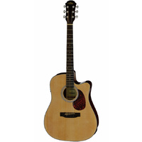 Aria ADW-01 Series Dreadnought AC/EL Guitar with Cutaway in Natural