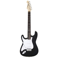 Aria STG-003 Series Left Handed Electric Guitar in Black