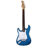 Aria STG-003 Series Left Handed Electric Guitar in Metallic Blue