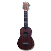 Aria AU-Series Dark Stain Soprano Ukulele in Natural Matt Finish