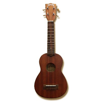 Aria AU-Series Light Stain Soprano Ukulele in Natural Matt Finish