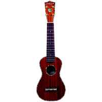 Aria AU-Series Deluxe Pro Soprano Ukulele in Natural Gloss Finish