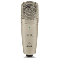 Behringer C-1U Large Diaphragm Condenser Microphone with Built-in USB Interface