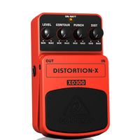 Behringer XD300 Distortion-X Thrash Metal Distortion Effects Pedal