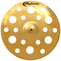 "Bosphorus Gold Series 17"" Holed Crash Cymbal with 18 Holes"
