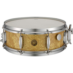 Gretsch Broadkaster Vintage Snare Drum Antique Pearl Finish - 14 x 5.5""
