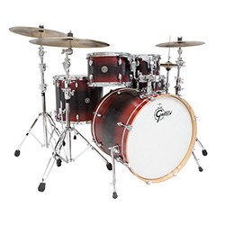Gretsch Catalina Ash 5-Pce Fusion Drum Kit in Red/Black/Red Burst