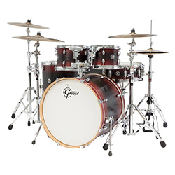 Gretsch Catalina Ash 6-Pce Euro Drum Kit in Red/Black/Red Burst