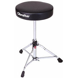 Gibraltar 5600 Series Double Braced Round Drum Throne in Black