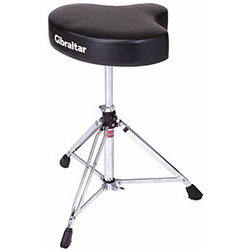 Gibraltar 6600 Series Double Braced Motostyle Drum Throne in Black