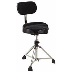 Gibraltar 9600 Series Drum Throne with Oversized Motostyle Seat & Adjustable Backrest