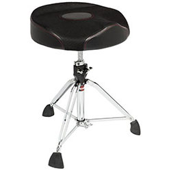 Gibraltar 9600 Series Drum Throne with Oversized Round Seat with Thigh Cutouts