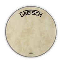 "Gretsch 22"" Fibreskyn Bass Drum Head with Broadkaster Logo"