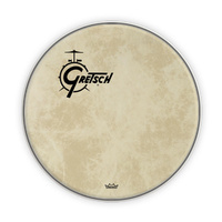 "Gretsch 20"" Fibreskyn Bass Drum Head with Offset Logo"