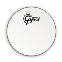 "Gretsch 18"" Bass Drum Head in White with Centred Logo"