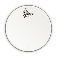 "Gretsch 26"" Bass Drum Head in White with Centred Logo"