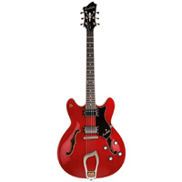 Hagstrom Viking Semi-Hollow Guitar in Wild Cherry Transparent Gloss