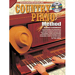 Progressive Country Piano Method Book/CD