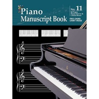 Progressive Manuscript Book 11 Stapled. 48-Pages/Piano Staves/Chord Boxes