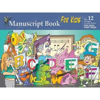 Progressive Manuscript Book 12 for Kids. 24-Pages / 6 Giant Staves