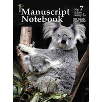 Progressive Manuscript Book 7 Notebook. 48-Pages/12 Stave