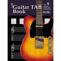 Progressive Manuscript Book 9 Guitar Tab. 48-Pages/Treble Staff/Tab Lines /Chord Boxes