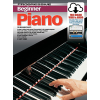 Progressive Beginner Piano Book/Online Video & Audio