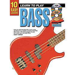 10 Easy Lessons Learn To Play Bass Book/CD/DVD