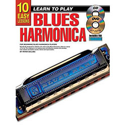 10 Easy Lessons Learn To Play Blues Harmonica Book/CD/DVD