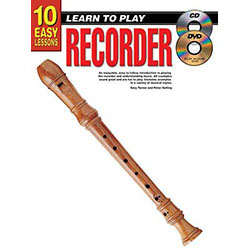 10 Easy Lessons Learn To Play Recorder Book/CD/DVD