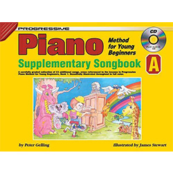 Progressive Piano Method for Young Beginners Supplementary Songbook A Book/CD