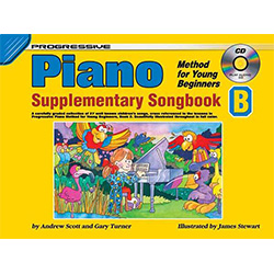 Progressive Piano Method for Young Beginners Supplementary Songbook B Book/CD