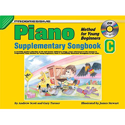 Progressive Piano Method for Young Beginners Supplementary Songbook C Book/CD