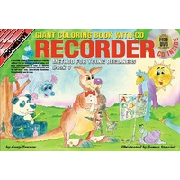 Progressive Recorder Book 1 for Young Beginners Colouring Book/CD/DVD