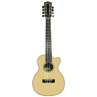 Kealoha KT-Series 8 String AC/EL Tenor Ukulele with Solid Spruce Top  in Natural Matt Finish