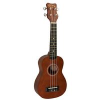 Kohala Akamai Series Soprano Ukulele in Natural Satin Finish with Binding