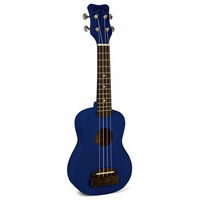 Kohala Tiki Series Soprano Ukulele in Blue with Natural Satin Finish