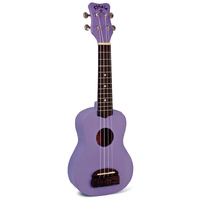 Kohala Tiki Series Soprano Ukulele in Purple with Natural Satin Finish