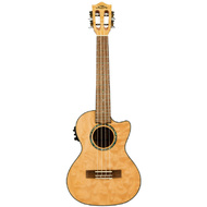 Lanikai Quilted Maple Tenor AC/EL Ukulele in Natural Stain Gloss Finish