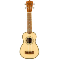 Lanikai Solid Spruce Top Series Soprano Ukulele in Natural Satin Finish