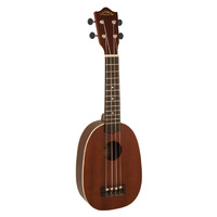 Lanikai Tunauke Series Pineapple Soprano Ukulele in Natural Satin Finish