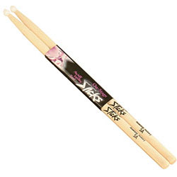 On Stage American Hickory Wood with Nylon Tip 7A Drum Sticks