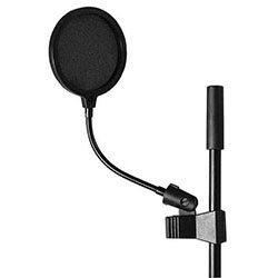 "On Stage Pop Blocker 4"" with Gooseneck and Clothespin-Style Shaft Clip"