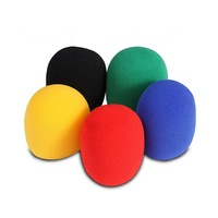On Stage Multi Colour Foam Microphone Windscreens Pk-5