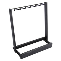 On Stage Side-Loading Guitar Rack in Black Finish
