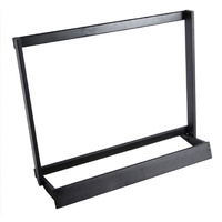 On Stage Wooden Guitar Case Rack in Black Finish