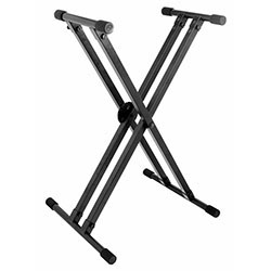 On Stage Lok Tight Pro Double X-Braced Ergo-Lok Keyboard Stand
