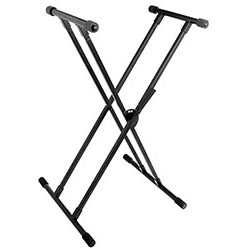 On Stage Pro QuikSqueeze Double X-Braced Keyboard Stand